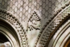 Wall carving (ianhb) Tags: france bayeux cathedral gothic stone romanesque