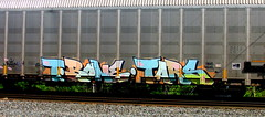 t.bone - tars (timetomakethepasta) Tags: tbone tars aa crew mahagony hews virus freight train graffiti art autorack