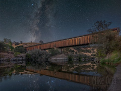 Along the Stanislaus River (mikeSF_) Tags: pentax k3 astrotracer astrophotography astro stars bridge knights ferry knightsferry coveredbridge covered outdoor mikeoria wwwmikeoriacom dfa1530 15mm milkyway lightpainting wood stanislaus river bank shore stanislausriver oakdale