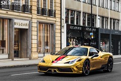 Ferrari 458 Speciale (Stian Hheim) Tags: ferrari 458 speciale gold car cars supercar supercars auto autos automobile automobiles filter stian hheim photography nikon d3200 af 50mm summer london 2016 polarizingfilter polarized polarizing photoshop photo photographie