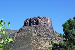 Golden's Castle (Jan Nagalski) Tags: mesa butte southtablemountain flattop castlerock geology erosioneroded blue bluesky golden colorado jannagalski jannagal pine ponderosapine aspen tree
