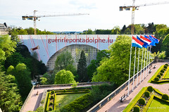 Pont Adolphe : Adolphe Bridge, View From Casemates, Luxembourg City, Luxembourg (nilkpic1) Tags: nikond7000 nileshkhadsephotography cityscape architecture urbanphotography landscape pontadolphe adolphebridge viewfromcasemates luxembourgcity luxembourg europe nkphotography