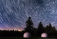 Watching the World Go By (mhoffman1) Tags: a7r astro astronomy astrophotography concentric domes evening night northstar pa padcnr park polaris sonyalpha startrails stars starstax