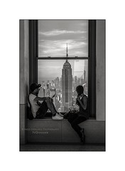 nyc#93 - Our View (Nico Geerlings) Tags: ngimages nicogeerlings nicogeerlingsphotography nyc ny usa us newyorkcity manhattan midtown rockefellercenter topoftherock totr empirestatebuilding esb leicammonochrom 50mm summilux