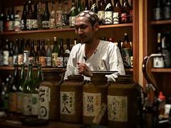 The Bottle Man (Rekishi no Tabi) Tags: bar bartender kagurazaka tokyo japan sony