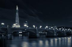 Southwark Bridge (DaveWilliams) Tags: shard thames london londonist bw mono