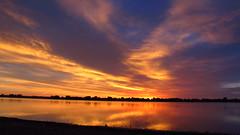 IMG_5954 (Light from Light) Tags: sunrise water orange sky clouds canong12 colorado boydlake