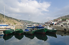 BALAKLAVA (gvopros) Tags: balaklava sevastopol crimea russia town bay boat