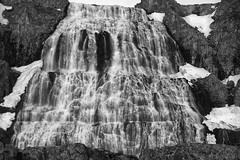 Dynjandi - the icing on a landscape cake (lunaryuna) Tags: iceland westiceland westfjords landscape waterfall dynjandi dynjandiwaterfall cascade rockface majesticfall blackwhite bw monochrome lunaryuna