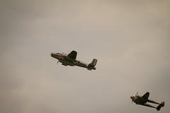 Mitchell & Lightning (krustyhimself) Tags: scalaria wolfgangsee salzkammergut austria 2014 airshow airchallenge theflyingbulls redbull lockheedp38lightning n25y northamericanb25jmitchell n6123c