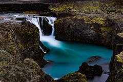 Iceland 2016 - Hrauneyjafoss (cesbai1) Tags: iceland is islande islanda islandia waterfall hraunjafoss summer 2016 roadtrip sony alpha77 a77 long exposure pause lente longue suurland