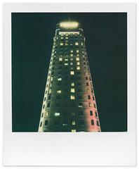 Foshay Tower (tubes.) Tags: polaroid polaroidweek instant film minneapolis minnesota impossibleproject