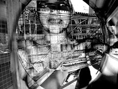 good news! : mankind still is under construction . (joei.laut) Tags: joeilaut september 2016 sw schwarzweiss blackwhite bw woman girl mankind construction philosophical vision surreal surrealismus surrealism sciencefiction asimov scifi human future