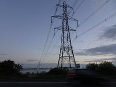 Transmission (stevenbrandist) Tags: leicestershire pylon sky clouds morning commute commuting electricity transmission