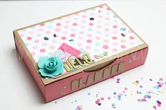 Decorated box (Mimama Handmade) Tags: box decorated planner crafts scrapbooking manualidades ca