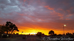 September 30, 2016 - A gorgeous last of September sunrise. (ThorntonWeather.com)
