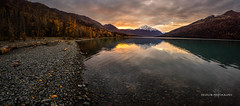 Peace and Quiet (Traylor Photography) Tags: clouds autumn snow morning sunrise distance anchorage eklutnalake glacial mountains colors reflectioni panorama fall drinkingwater rocks