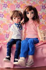 Milo & Olive (Lucy-Loves?) Tags: doll bjd dollstown ganga olive littlecosmosdolls oliver littlecosmos milo