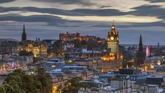 Edinburgh Castle from Calton Hill, Edinburgh, Scotland (MelvinNicholsonPhotography) Tags: edinburghcastle edinburgh caltonhill scotland dusk castle