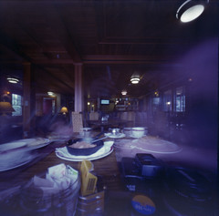 Grabbing a Quick Breakfast (george.bremer) Tags: 1995 6x6 blur breakfast c41 camera eating ei50 epson expiredfilm film filmphotographyproject fpp hotel mountainbrook ondu pinhole plates scan table unicolor v750 vuescan longexposure kodak vps