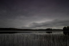1063 (P. Koskela) Tags: lake landscape nightphotography evening finland autumn maisema karstula suomi jrvi clouds grey nd400