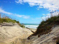 to the beach (ekelly80) Tags: northcarolina outerbanks obx nagshead camping oregoninlet september2016 sand dunes beach ocean atlanticocean hills grass sky campsite campground view