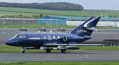G-FRAH Cobham Aviation Services,Dassault Falcon 20-DC,Glasgow Prestwick 11/10/16 (BS Images.) Tags: dassault falcon cobham jointwarrior jointwarrior2016 bizjet egpk glasgowprestwick gpa pik prestwick prestwickairport airport aircraft aviation ayrshire southayrshire scotland
