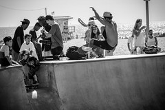 Venice Beach Skaters (James Billson) Tags: skateboard skaters sk8 sports outdoors extremesports california venicebeach ramps tricks catchair monochrome blackandwhite beach park canon 60d