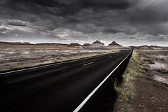 Petrified Forest on the Road - Arizona (USA) (luke.switzerland) Tags: petrified forest nationalpark road clouds arizona usa driving travel landscape nature nikon d810