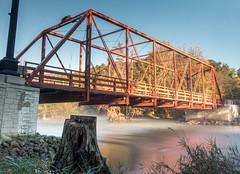Delhi Ironworks (Matt McLean) Tags: annarbor autumn bridge delhi historic landscape longexposure mist morning park river riverbank michigan unitedstates us