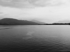 Cruising Loch Lomond in the rain #2 (jimsawthat) Tags: blackandwhite cruise rain lake loch lochlomond scotland uk rural unitedkingdonm