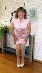 Cheongsam (Trixy Deans) Tags: xdresser sexy sexytransvestite sexyheels sexylegs sexyblonde tgirl tv transvestite transgendered transsexual tranny tgirls trixy shemale shemales shortdress