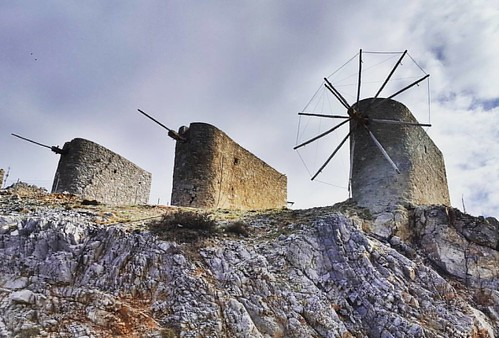 Lasithi windmills #mojegreckiewakacje #crete #mountains #bikeride