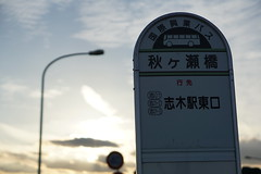 Akigase-Bridge bus stop (Kouki Kuriyama) Tags: saitama nishiurawa     akigase arakawa  shiki  kokusaikogyo