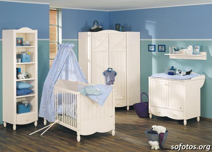 quarto azul de bebê masculino
