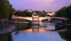 Sunset Bridge in Rome