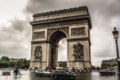 Arc de Triomphe from the Place Charles de Gaulle - Paris France (mbell1975) Tags: from cloud paris france monument de french memorial îledefrance arch place cloudy champs arc triomphe charles triumph napoleon gaulle elysees triumphbogen pariser champsélysées létoile