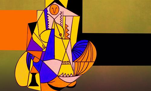 """Odaliscas (Mujeres de Argel) yuxtaposición y deconstrucción de Pablo Picasso (1955), síntesis de Roy Lichtenstein (1963). • <a style=""""font-size:0.8em;"""" href=""""http://www.flickr.com/photos/30735181@N00/8746883211/"""" target=""""_blank"""">View on Flickr</a>"""