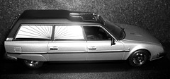 Citroen CX Break Hearse of 1980  1/43rd scale. Minichamps. B&W (Ledlon89) Tags: