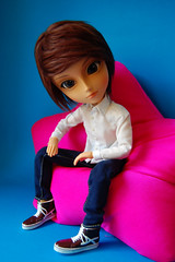 (Lau9Vigo) Tags: pink blue azul eyes rosa sage ojos groove taeyangsage