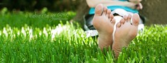 R & R... (Barbara Taeger (formerly Pianogram)) Tags: summer color feet grass whimsy dof barefoot rest relaxation odc2 beginswithr pianogram barbarataeger