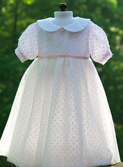 Light and airy (Petit Gosset) Tags: pink white dress handmade lace silk poupe waldorfdoll dollclothes dolloutfit dollcouture petitgosset