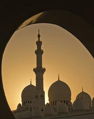 pick-a-dome (LilaCheck ) Tags: travel sunset silhouette religious nikon uae middleeast mosque abudhabi orangesky nikond600 blinkagain muslimreligious