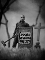 Friday the 13th (RK*Pictures) Tags: jason voorhees lake grave death curse killer mother pamela jasonvoorhees fridaythe13th friday 13 blood doomed murder slasher horror campblood crystallake camp child seanscunningham 1980 actionfigure toy mezco mezcotoys diorama tomb tombstone gravestone headstone epigraph inscription rip rest goaliehockeymask hockeymask mask campcrystallake boy slasherfilm horrormovie cult classic axe nikond5100 rkpictures toyphotography actionfigurephotography