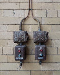 Old Switches (-MNB-) Tags: architecture manchester photograph listedbuilding filmlocation victoriabaths henryprice highstreetbaths manchesterswaterpalace