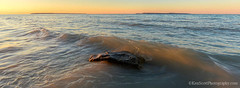 Lake Michigan ... sunlit breaker (Ken Scott) Tags: november usa michigan fallcolors wave lakemichigan greatlakes freshwater voted 2014 leelanau colortour 45thparallel manitouislands fhdr panoramacrop sbdnl sleepingbeardunenationallakeshore mostbeautifulplaceinamerica kenscottphotography kenscottphotographycom