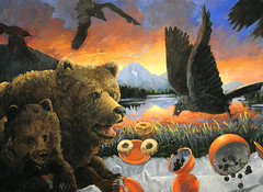 Oxbow Incident (detail), Anne Coe (V. C. Wald) Tags: jacksonhole grandtetonnationalpark wildlifeart jacksonwyoming nationalmuseumofwildlifeart annecoe oxbowincident