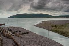 Porlock Weir E7120226_14 (tony.rummery) Tags: england seascape harbor seaside unitedkingdom harbour perspective somerset olympus gb poles groyne omd porlock porlockweir em10 mft microfourthirds