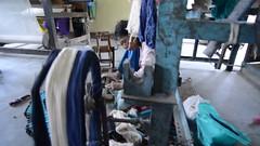 All The Live Long Day (Video) (www.WeAreHum.org) Tags: textile nepal thread bobbins gandhi tulsi ashram school for women kathmandu sowing weaving winds threads mechanical loom wood shuttles feet arts