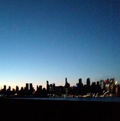 NYC album cover (DC Products) Tags: 2016 newjersey newyork newyorkcity hudsonriver sunrise fromtheroad skyline